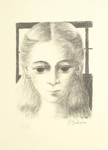 Paul Delvaux-Anne, Full Face-1971