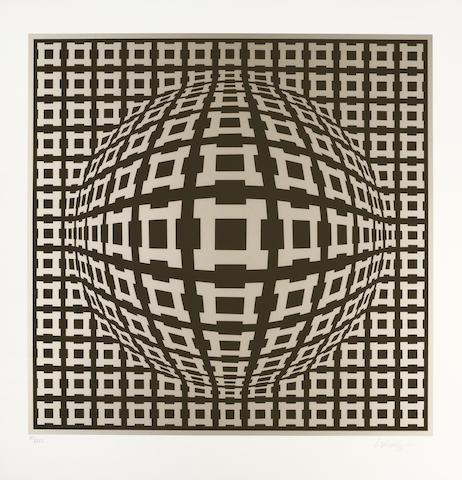 Victor Vasarely-Nobel I & II-1983
