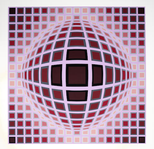 Victor Vasarely-Louisiana I & II-1983