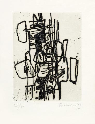 Various Artists (Corneille, Pierre Alechinsky) - Two etchings from the International Avant-garde portfolio-1969