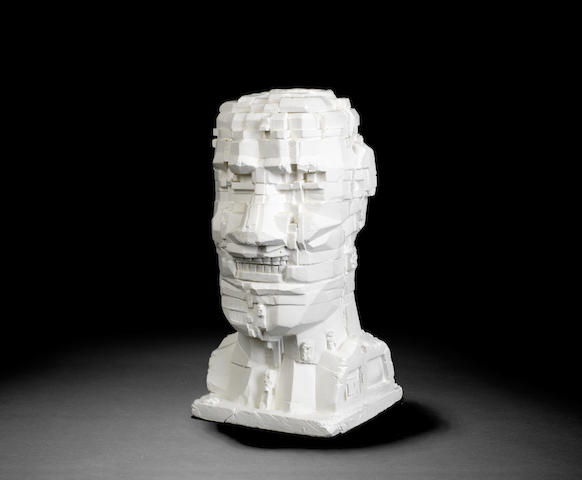 Eduardo Paolozzi-Untitled head ('NYB' London, 1993)-1993