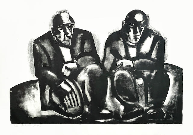 Josef Herman-A Collection (Two Miners, Fully Loaded, Vineyard Workers)-