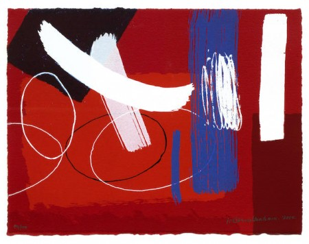 Wilhelmina Barns-Graham-Red, from Millenium Series-2000