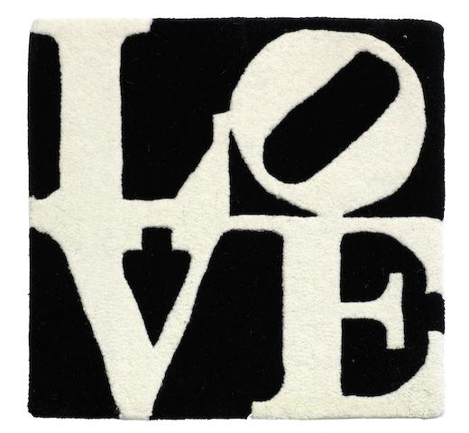 Robert Indiana-Love (Black & White)-