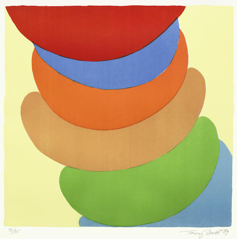 Terry Frost-Red, Blue, Orange on Yellow-1969