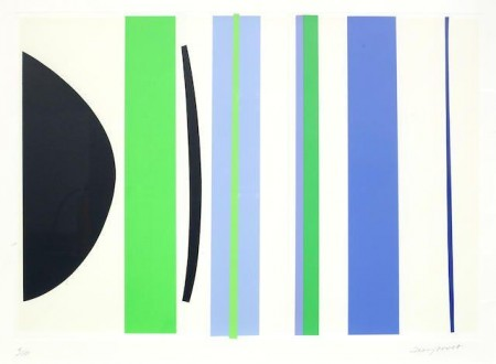 Terry Frost-Blue and Green Verticals-2002