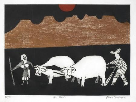 Julian Trevelyan-The Plough (Turner 322); Picnic; The Lamp; Ginger Beer Bottle-1999