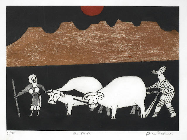 Julian Trevelyan-The Plough (Turner 322); Picnic; The Lamp; Ginger Beer Bottle-1999