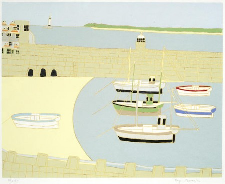 Bryan Pearce-A Collection (Westcotts Quay 1980, Two Boats, Flowers on the Window Sill, The Arches, The Lady Chapel, St. Ives)-1995