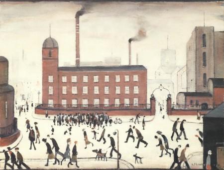 Laurence Stephen Lowry-Mill Scene-