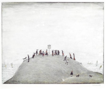 Laurence Stephen Lowry-The Notice Board-1975