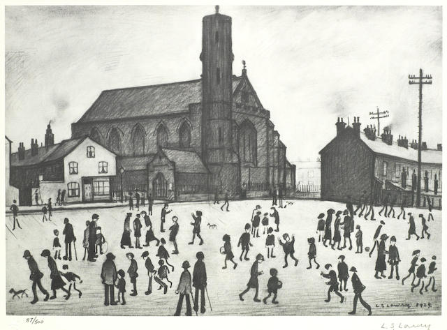 Laurence Stephen Lowry-St Mary's Church, Beswick-
