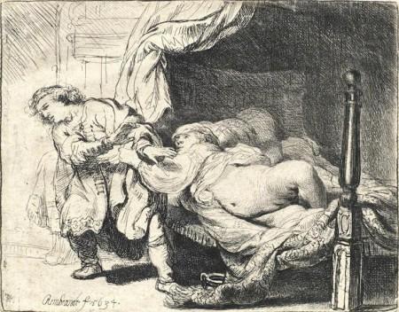 Rembrandt van Rijn-Joseph and Potiphar's Wife-1634