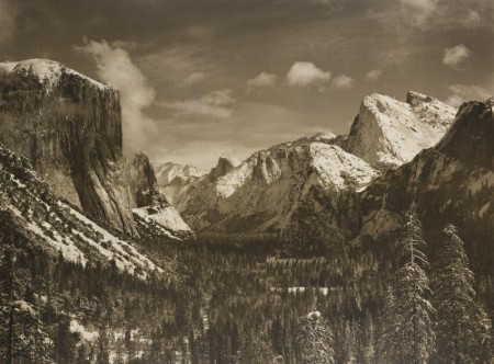 Ansel Adams-Yosemite Valley From Inspiration Point, Winter, Yosemite National Park-1940