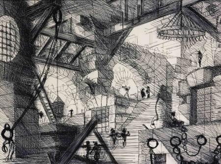 Vik Muniz-Carcere XIII, The Well (From Carceri After Piranesi)-2002