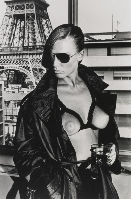 Helmut Newton-Gunilla Bergstrom At The Eiffel Tower-1976