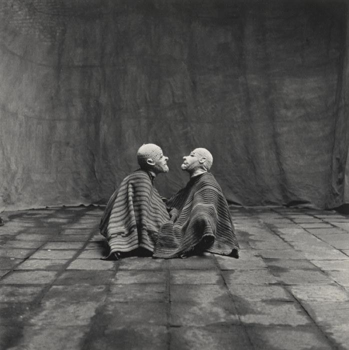 Irving Penn-Two Men In White Masks, Cuzco, Peru-1948
