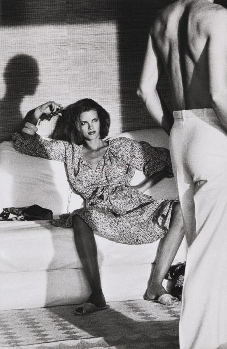 Helmut Newton-Woman Examining Man, U. S. Vogue, St.Tropez-1975