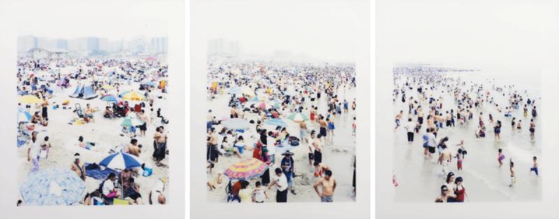 Massimo Vitali-Coney Island Triptych (#2328/2329/2330)-2006