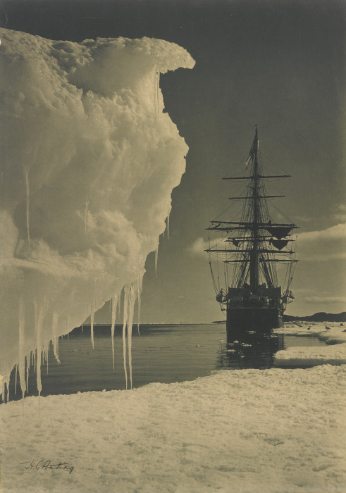 Herbert Ponting-The Terra Nova At The Ice-Foot, Cape Evans-1911