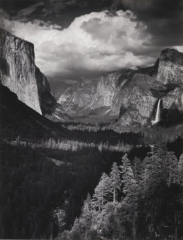 Ansel Adams-Yosemite And The Range Of Light; Thunderstorm, Yosemite Valley, California (Boston: New York Graphic Society, 1979)-1945