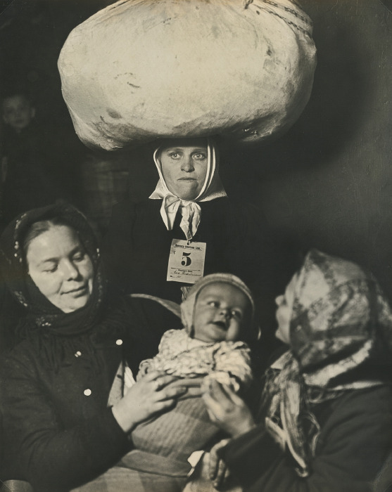 Lewis Wickes Hine-Slavic Mother And Child (Ellis Island, New York)-1905