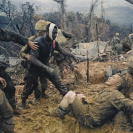 Larry Burrows-Reaching Out' (Battle Of Hill 484, South Vietnam)-1966