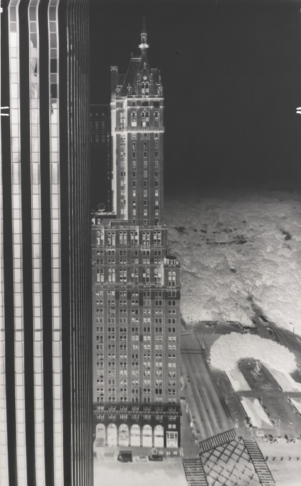 Vera Lutter-North View, 745 Fifth Avenue, New York: September 6, 1995-1995