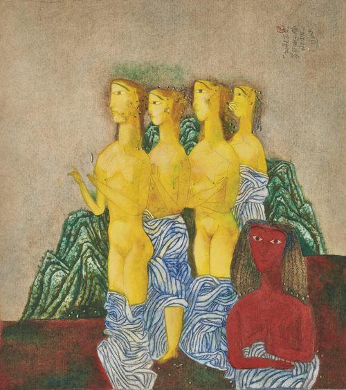 Zhang Xiaogang-Waiting Spirits-1989