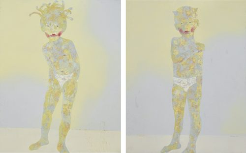 Guo Jin-Child's Portrait No 2 & No. 5 (Two Works)-2002