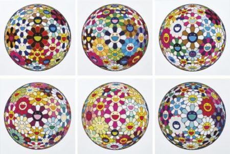 Takashi Murakami-Flower Ball And Other (Six Works)-2013