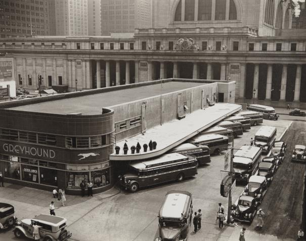 Berenice Abbott-Greyhound Bus Terminal, 33Rd And 34Th Street Station, 7Th And 8Th Avenue, Manhattan-1936