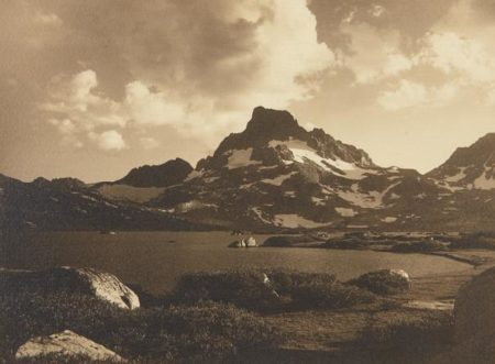 Ansel Adams-Banner Peak At Sunset From The Shore Of Thousand Island Lake, Mono County, California-1923