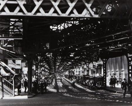 Berenice Abbott-Under The El At The Battery, New York-1936