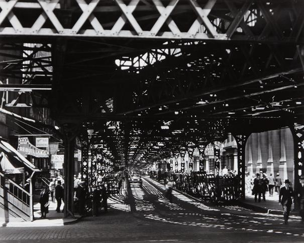 Berenice Abbott-Under The El At The Battery, New York-1936