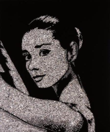 Vik Muniz-Audrey Hepburn From Pictures Of Diamonds-2005