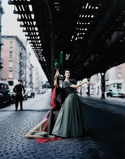 William Helburn-Dovima Under The El (Dior Creates Cosmopolitan Drama)-1956