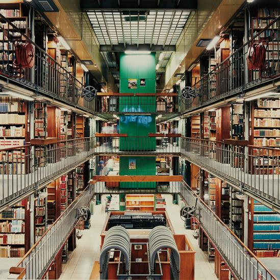 Candida Hofer-Bibliotheque Nationale De France, Paris V-1998
