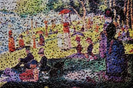 Vik Muniz-A Sunday On La Grande Jatte, After Georges Seurat From Gordian Puzzles-2009