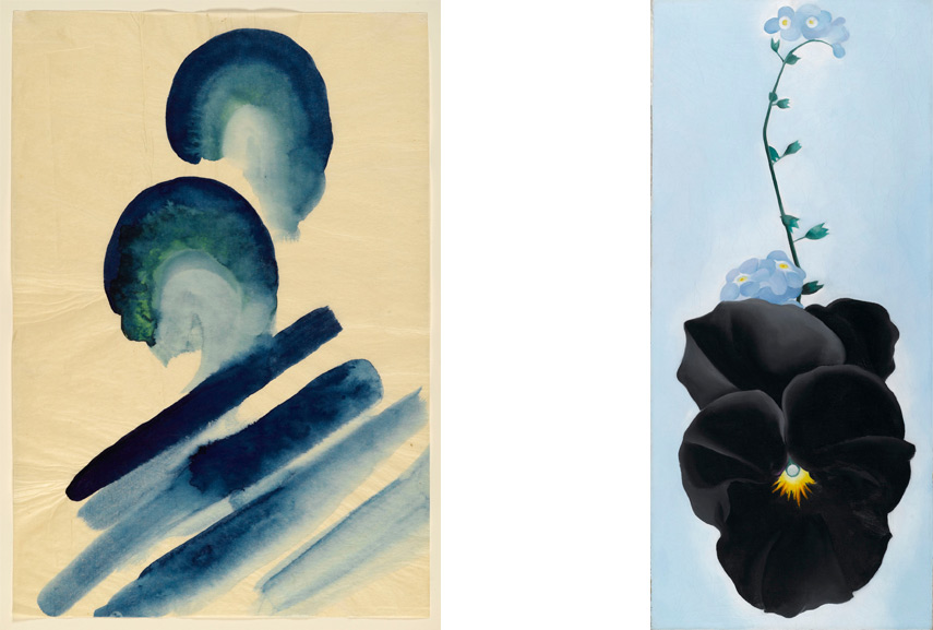 o'keeffe created her blue landscape paintings and photography at her home in mexico