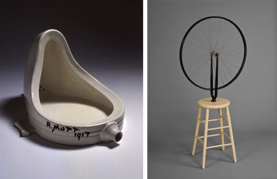 Marcel Duchamp - Fountain, 1917, Bicycle Wheel, 1913