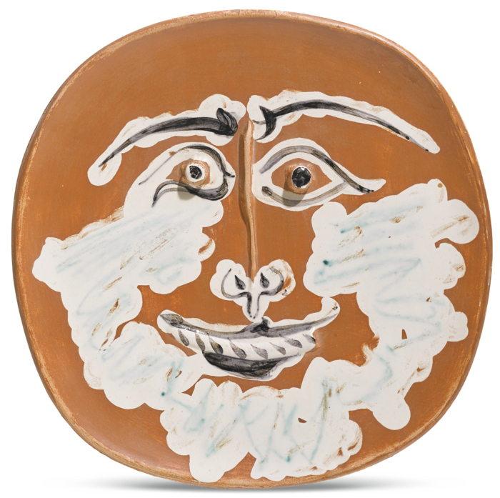 Pablo Picasso-Visage Barbu (A. R. 413)-1959