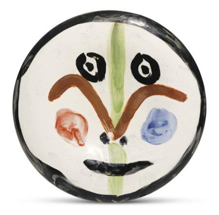 Pablo Picasso-Visage No. 157 (A. R. 489)-1963