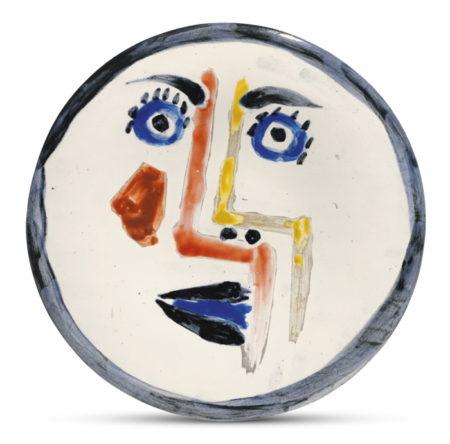 Pablo Picasso-Visage No. 192 (A. R. 492)-1963