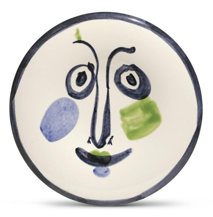 Pablo Picasso-Visage No. 197 (A. R. 494)-1963
