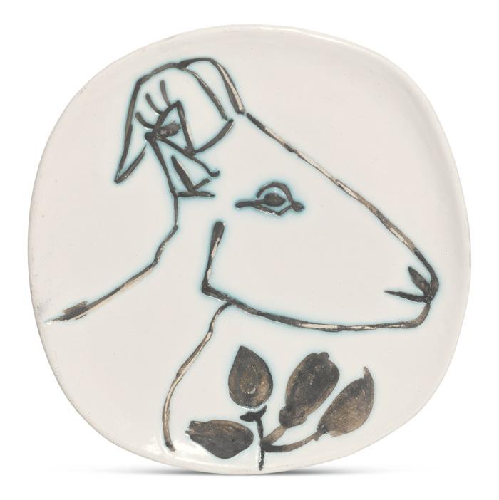 Pablo Picasso-Tete De Chevre De Profil (A. R. 106)-1950