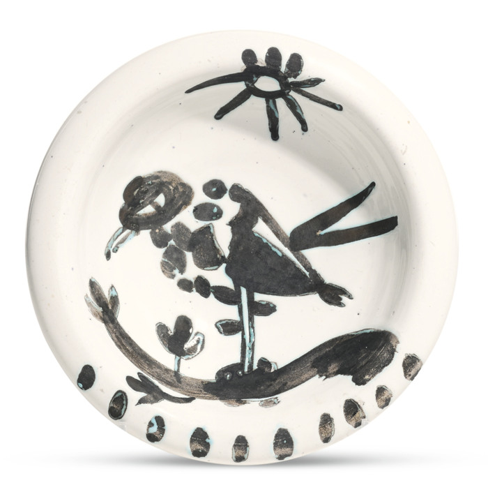 Pablo Picasso-Oiseau Au Soleil (A. R. 174)-1952