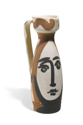 Pablo Picasso-Visage (A. R. 288)-1955