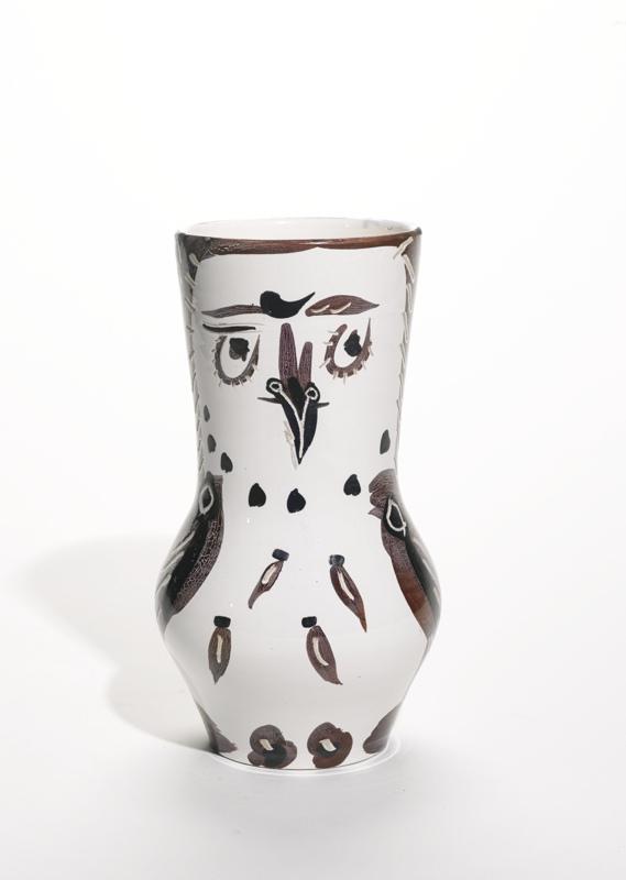 Pablo Picasso-Chouette Marron/Noir (A. R. 134)-1952