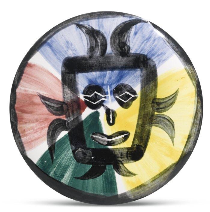 Pablo Picasso-Visage No. 125 (A. R. 477)-1963